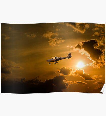 Firy Sky Landing Poster