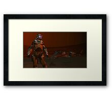 COMMAND THIS IS PATROL  T31  REPORTING  THERE IS NO ACTIVITY  HERE AT  THE RED SAND BASE I AM AWAITING ORDERS   Framed Print