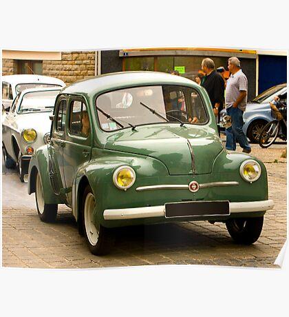 Renault 4Cv - Vintage French Car Poster