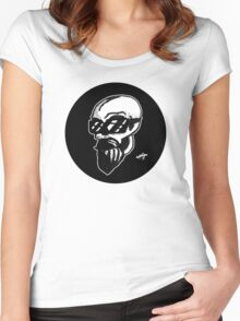 Shaded Skull Women's Fitted Scoop T-Shirt