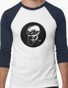 Shaded Skull Men's Baseball ¾ T-Shirt