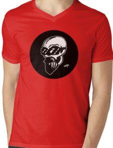 Shaded Skull Mens V-Neck T-Shirt