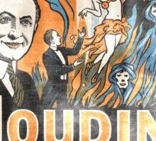 Houdini Magician Vintage Sticker