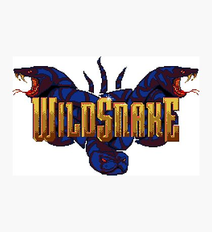 WildSnake - SNES Title Screen Photographic Print