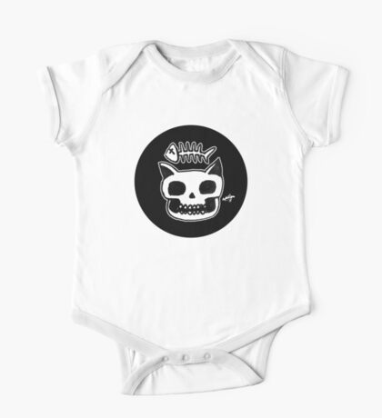 Cat Skull One Piece - Short Sleeve
