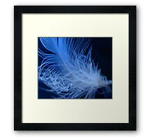 Fluffy Neon Feather Framed Print