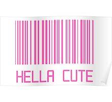 Hella Cute Barcode Poster