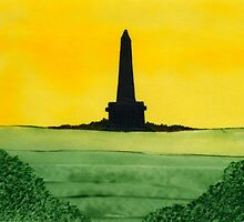 Sunset on Stoodley Pike by Anne Pearson