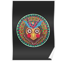 The Tribal Great Horned Owl Poster