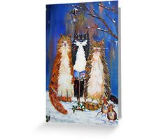 We Three Cats of..... Greeting Card