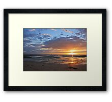 Sunset in Normandy Framed Print