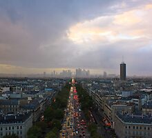 Paris from the top of the Arc de Triomphe by Julien Tordjman