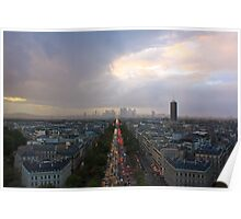Paris from the top of the Arc de Triomphe Poster