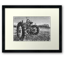 Day is Done Vintage Tractor Pencil Framed Print