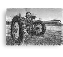Day is Done Vintage Tractor Pencil Canvas Print