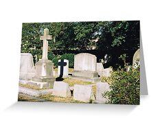 Headstone Cross Greeting Card