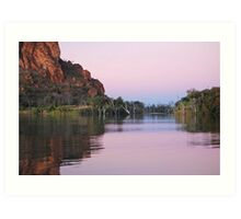 Dusk on  the Ord River, Western Australia Art Print