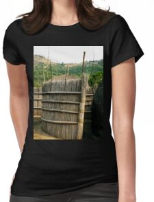 a desolate Swaziland  landscape Womens Fitted T-Shirt