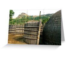 a desolate Swaziland  landscape Greeting Card