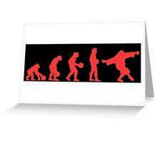 Lebowki evolution red Greeting Card