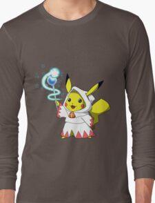 White Mage Pikachu Long Sleeve T-Shirt