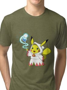 White Mage Pikachu Tri-blend T-Shirt