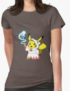 White Mage Pikachu Womens Fitted T-Shirt