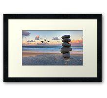 Granite Zen Framed Print
