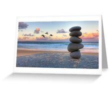 Granite Zen Greeting Card
