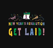 "New Year's Resolution ""Get Laid"" T-Shirts Long Sleeve T-Shirt"