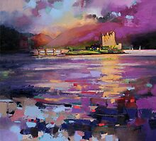 Evening Light at Eilean Donan Castle by scottnaismith
