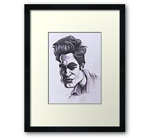 Robert Pattinson caricature Framed Print