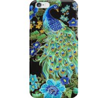 Peacock on Black iPhone Case/Skin