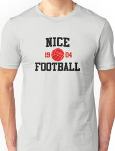 Nice Football Athletic College Style 2 Gray Unisex T-Shirt