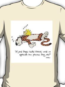 Calvin And Hobbes Quote sleep T-Shirt