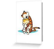 calvin and hobbes cartoon Greeting Card