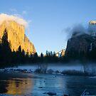 Bridalveil Meadow in Winter, Yosemite by William Hackett