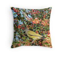 Hungry Fig Bird Throw Pillow