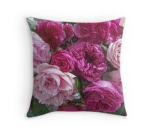 Antique Rose Bouquet #3 Throw Pillow