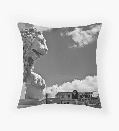 Mighty Lion Che Throw Pillow