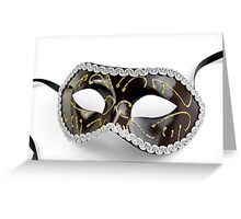 Black Venetian Mask Greeting Card
