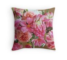 Rosy Floral Toast to Late Summer #2 Throw Pillow