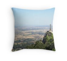A Holy View Throw Pillow