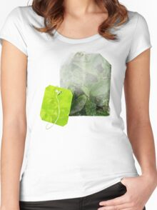 tea leaves bag Women's Fitted Scoop T-Shirt