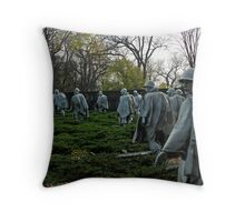 Korean War Memorial Throw Pillow