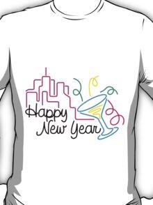 Happy New Year Tees TShirts T-Shirt