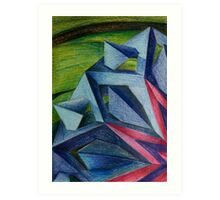 Abstract Geometric Flower Art Print