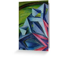Abstract Geometric Flower Greeting Card