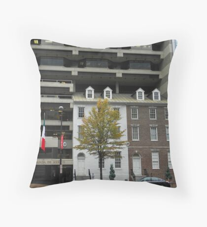 Building Upon History Throw Pillow
