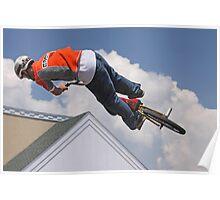 BMX Stunt Biker Poster